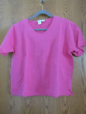 Coldwater Creek 2-piece Knit Casual Top and Short Set - Hot Pink - Petite Large