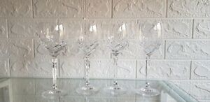 CUT CRYSTAL WINE SET OF 4 GLASSES - 20cm HIGH