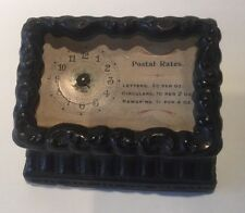 Antique Victorian Cast Iron Postal Rates Clock As Is