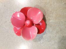 Vintage Large Pink Enamel Flower Daisy Type Pin Brooch