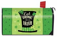 Eat Drink and Be Irish Hat Magnetic Mailbox Cover St. Patrick's Day Standard
