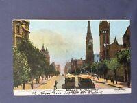 ±1905 Postcard AUSTRALIA MELBOURNE COLLINS STREET VICTORIA Art Series