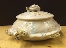 Pottery Turtle Tureen Large Covered Bowl With Small Turtle Handle