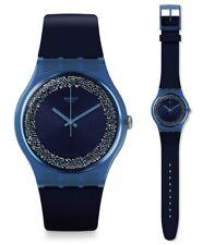 Swatch Women's Wrist Band Watch Blusparkles SUON134