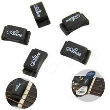 Alice 5 pcs Black Rubber Pick Holder Fix on Headstock for Guitar Bass Ukelele