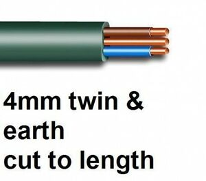 NEW 4mm twin earth electrical cable brown blue 6242Y
