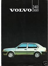 VOLVO 340 - 360  // catalogue brochure prospekt folder dépliant prospectus