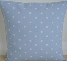 "NEW 16"" Cushion Pillow Cover Baby Light Blue White Polka Dots Nursery Spots"