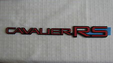 """NEW OEM Red Chevy """"CAVALIER RS"""" Nameplate Emblem Badge 22554385"""