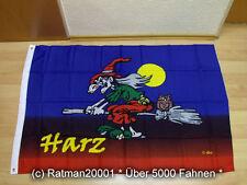 Fahnen Flagge Harz Hexe Brockenhexe - 95 x 135 cm