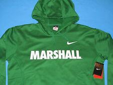 NWT NIKE Therma-Fit MARSHALL Sweatshirt HOODY Men Size L Green Thundering Herd