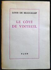 Du côté de Vinteuil / L.de Beauregard Plon 1966 Proust Rousseau Chateaubriand...