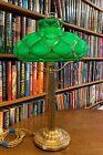 Antique Emeralite Desk Lamp Miller Bradley   Hubbard Handel Empire styles