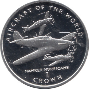 1995 Proof Isle Of Man End Of WWII HAWKER HURRICANE Crown Coin COA