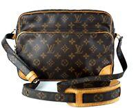 9b2969efb1 Auth Louis Vuitton Monogram Canvas   Leather Nile Crossbody Shoulder Bag  AR0020