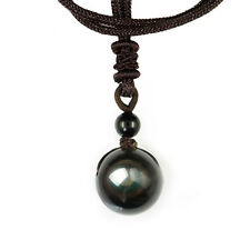 Top Natural For Lovers Lucky Black Transfer Rainbow Ball Pendant Eye Obsidian