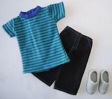 BARBIE/ KEN Clothes/Fashions Striped Shirt/Shorts/Shoes NEW!