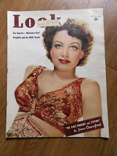 1939 Look Magazine Hollywood Movie Star Joan Crawford