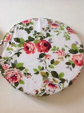 Round Bistro Circular Soft Chair Seat Pad Cushion Removable Cover-Red Rose