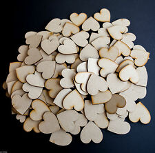 Wooden Love Hearts Shape Embellishments Craft Blank Wedding Decor Christmas MDF 20mm 25