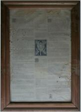 Antico800 documento religioso SAN BEDA PREPARATIO AD MISSAM motto PAPA FRANCESCO
