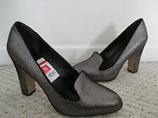 NEW Via Spiga Lorena Silver Pewter Metallic Pumps Shoes Size 10 M