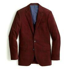 J Crew Ludlow Slim Italian Corduroy burgundy Suit Jacket Blazer F4253 sz 38R