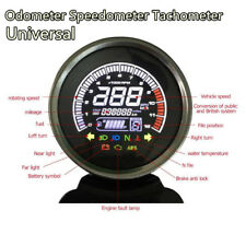 12V LCD Motorcycle Odometer Speedometer Tachometer Fuel Level Water TEMP Gauge