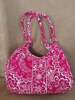Vera Bradley Twirly Bird Shoulder bag purse tote handbag pink floral white