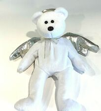 Ty Beanie Babies Collection {2000} HALO II 😇White Angel Silver iridescent Wings