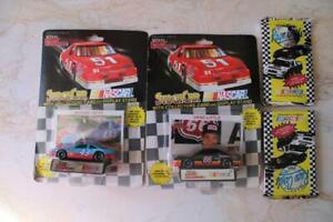 2-Vintage 1992 NASCAR DIE CAST Cars + 2-Decks of 1991 MAXX Race Cards N/R