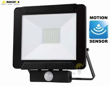 NEW MERCATOR DINO 30W LED DIY FLOODLIGHT WITH PIR MOTION SECURITY SENSOR - BLACK