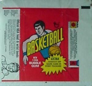 1974-75 TOPPS BASKETBALL CARDS WRAPPER (BANDS VARIATION