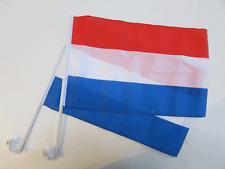 HOLLAND / NETHERLANDS CAR WINDOW FLAG - 2 PACK NEW