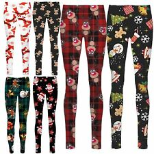 New Womens Xmas Teddy Bear Penguin Reindeer Flakes Candy Stick Jeggings 8-14