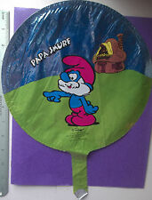 "New Vintage 1982 Papa Smurf Heart Shaped 17"" Balloon"