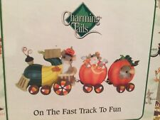 """Charming Tails Figurine """"Fast Track To Fun""""85-123;New In Box;Sealed;Train W/Mice"""