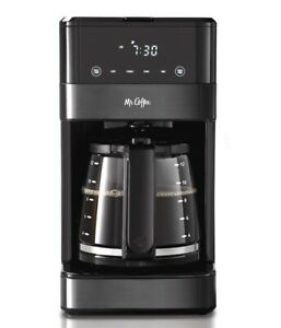 Mr. Coffee 12 Cup Programmable Coffee Maker LED Display Black Stainless NEW