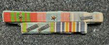 Placard de 5 décorations Croix Guerre 1939-45, Coloniale Ext-Orient, France Ital