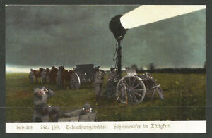 GERMANY. WW1. POSTCARD. SEARCH LIGHT. PUBLISHED BY GLORIA VICTORIA. UNUSED.