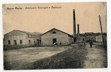 GERACE MARINA LOCRI REGGIO STABILIMENTO SOLFURO MATTONIERA CARTOLINA vg 1920