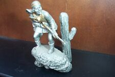 Franklin Comme neuf Indian Chief Geronimo Pewter Statue en Sculpture jim ponter