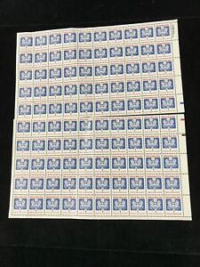 US Sheet 100 Stamps 1 Cent Each Official Mail Only USA MNH