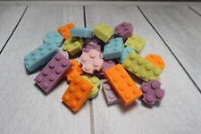 Lego Friends Inspired cake cupcake topper set 30 Brick Style Edible Sugarpaste