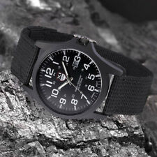 Mens Boy Militaryrmy Sport Style Canvas Strap Quartz Wrist Watch