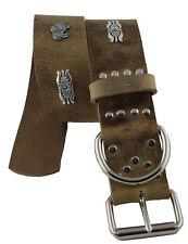 WESTERN SPEICHER Hundehalsband Leder Indi02 Braun Größe 47cm - 53cm