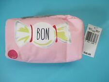 "NEW LESPORTSAC Top Zip Cosmetic Bag 3""x6"" Rectangular Adore Bon Candy"