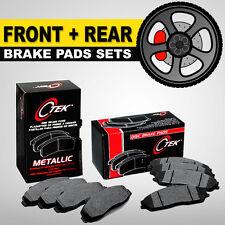 FRONT + REAR Metallic Disc Brake Pads 2 Sets Fits Hyundai Tucson, Kia Sportage