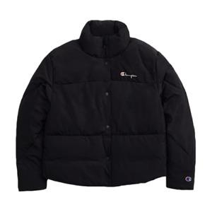 Champion Cropped Oversized Patchwork Jacket Women's Black Sportswear Outwear