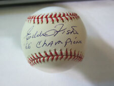 Eddie Fisher Autograph Signed Baseball Baltimore Orioles 66 Champions
